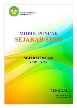 Modul P2 Sejarah STPM Melaka